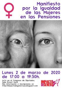 Igualdad de las mujeres en las pensiones